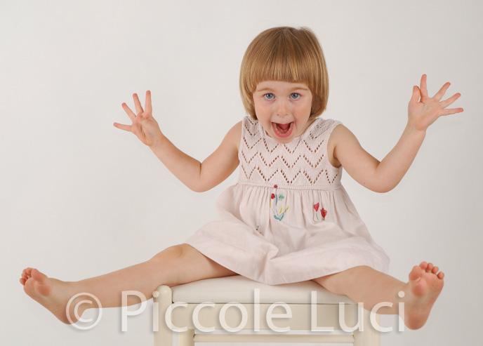 fotografia di studio bambina